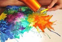Opere d'arte con pastelli fusi