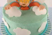 Sky diving cake