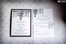 Chandelier Wedding Invitation Suite / by Gourmet Invitations