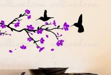 Bird Decals / Birds and Branches Wall Decals