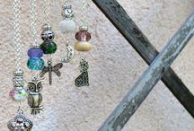 Secret Garden / Necklaces with Pandora Beads and Charms