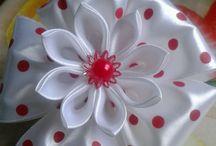 цветы,банты для заколок и др...