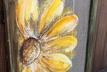 Idei tablou flori galbene