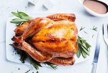 Roasting a Turkey.
