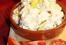 Potetsalat og stekt løk