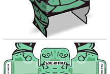 Rorschach Paper Toys / Collection of Rorschach paper toys designed by Fold Up Toys