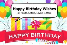 """Happy Birthday Wishes / If you are searching for """"Birthday Wishes"""" to a friend, sister or lover, this post should help! Here we list the best birthday wishes for anyone or any occasion. We also included birthday wishes images for some of the quotes and a couple of Hindi birthday wishes as well. http://musicbeats.net/happy-birthday-wishes/"""