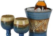 ceramic wine goblets