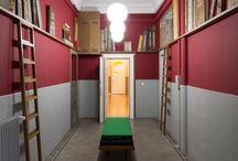 Entrée de la bibliothèque réalisée par Jérémie Gindre