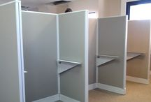 Mexico install office cubicles / We installed these light tan cubicles in Mexico last year for one of our customers.