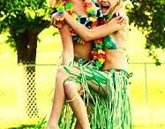 Party Ideas - Hawaiian Theme  / Games, food, & decor