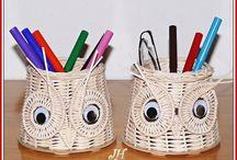 карандашницы плетение