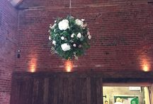 hanging floral displays / floral suitable for pulleys, marquees etc