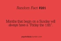 Fun Facts! / by Erica Nowlin