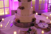 Wedding Cakes / Wedding cakes with color background by HourglassLighting.com