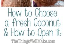 coconut how to open