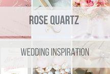 Rose Quartz Wedding / Our favourite Rose Quartz Wedding Finds from Creative Wedding Co
