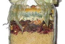 Mason Jar Cupboards - Dry Ingredients