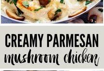 Creamy Parmigiana chicken