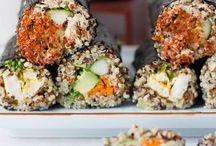 Healthy modern sushi / Interesting modern sushi