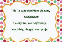 Język polski / ortografia, gramatyka, słownictwo