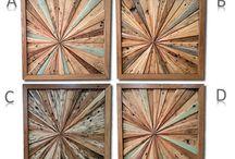Wood artwork wall
