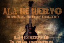 """Ala de Cuervo / Carteles promocionales de la novela """"Ala de Cuervo"""" www.manueljimenezdelgado.com"""