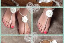 Lilly Dilly's Barefoot Sandals / Beautiful, elegant, bespoke barefoot sandals made to personal requirements by Lilly Dilly's