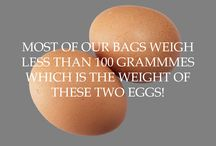 Most Bo-borsa bags weigh less than two eggs / If you are tired of your heavy bag take a look at our range of super-lightweight and very strong bags