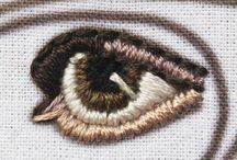 ojos tejidos