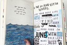 Teen Visual Diary Scrapbook Inspiration / My visual narrative project inspiration 2017.