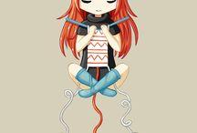 Иллюстрации о вязании