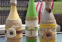 Поделки из винных бутылок