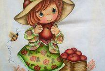 pintura em tecido / Riscos e modelos para pintar.  / by Claudia Silveira