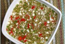 salads, salsa, spices, sauces / by Thida Vue