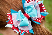 Red, White and Blue hair bow for girls!