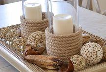 kaarsen/touw/zee