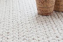 ARTs MNs:Tapetes trapilho e crochet