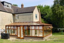 Upton St Leonards 2001 / This Listed house needed an entertainment area due to space restrictions inside; wood was chosen as being the material most sympathetic to the rest of the house. The finished conservatory is very impressive and transforms the whole building.
