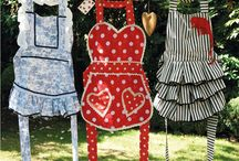 sewing aprons / by Staci Schilz