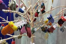 Christmas Ornaments / Made from recycled wool sweater scraps