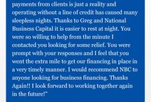 Testimonials / We have the best clients around. See what they have to say about National Business Capital: https://www.nationalbusinesscapital.com/customer-reviews/