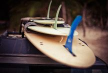 Surf boards / A single stick, or a quiver...check out the old and new.
