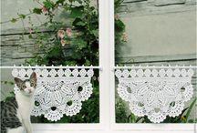 "My Crocheted Curtains / Мои шторки-zazdrostki -- вязаные шторы в стиле ""кафе"""