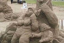 砂の彫刻 , Homok szobrászat