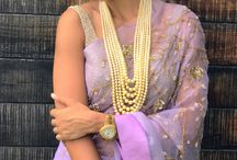Lavender organza saree shilpa Reddy
