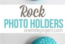 rock photo holders