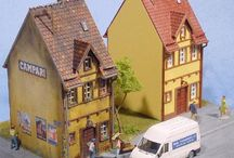 Painting models layout / model trains