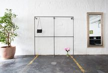 Open Wardrobes - Offene Kleiderschränke / Open wardrobes made from steel pipes · Offene Kleiderschränke aus Stahlrohr · Industrial Design · Industriedesign · Industriemöbel
