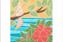 A. ell atelier art / Beautiful artwork to add some aloha to your home! Artists both from Portland and Kauai.